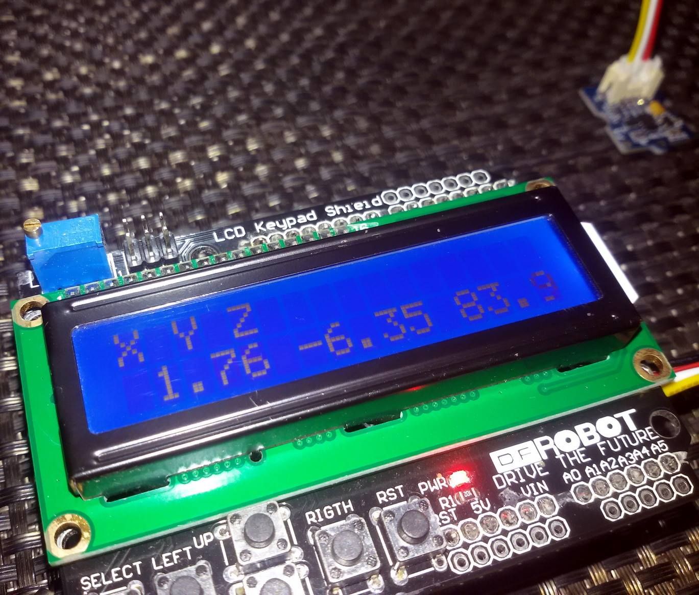 Libstock Adxl345 I2c Triple Axis Accelerometer Demo Basics Updated Using An With Avr Microcontroller Angle Measurement