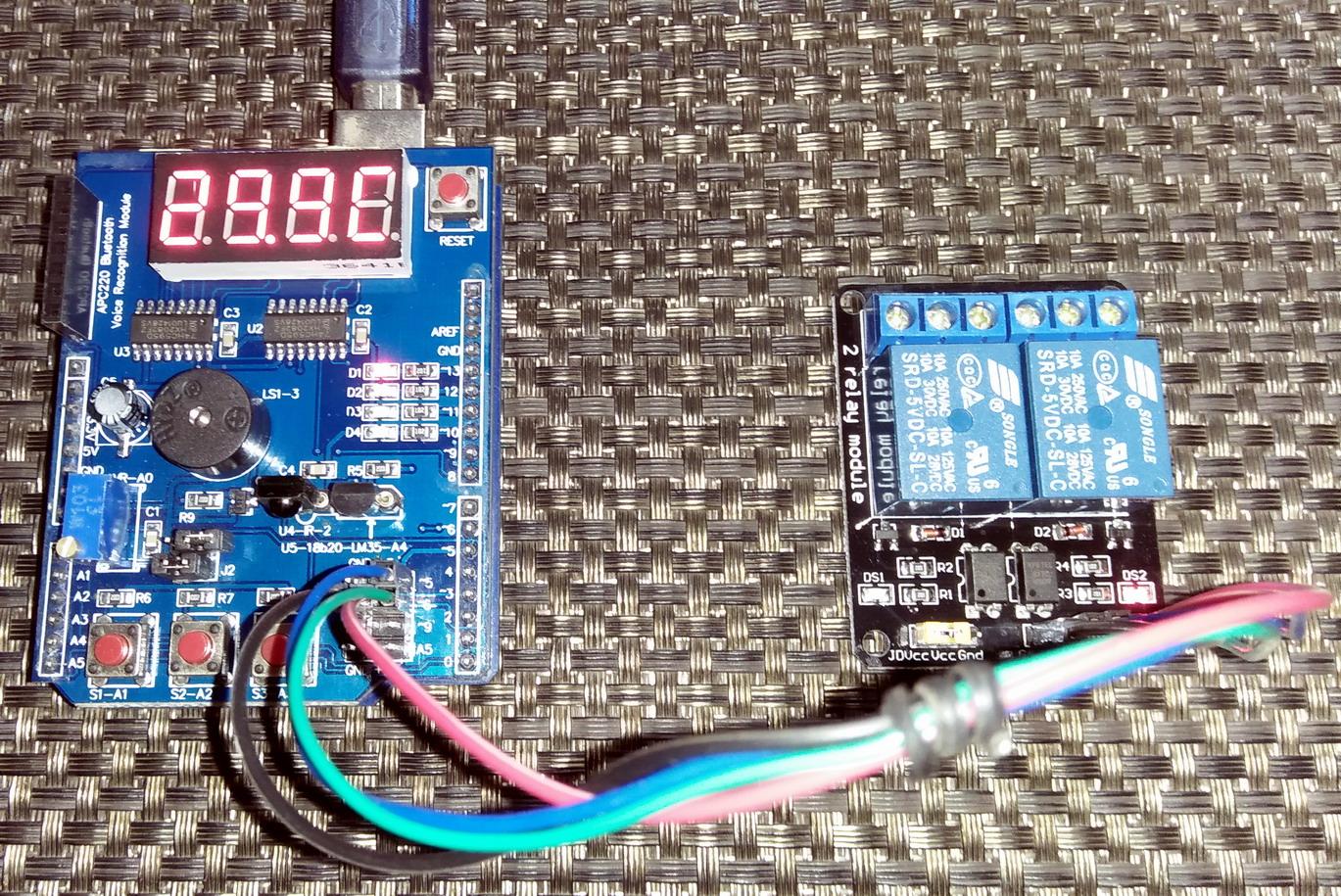 LibStock Arduino Multi Function Shield Demo Temperature Controller #1772B4
