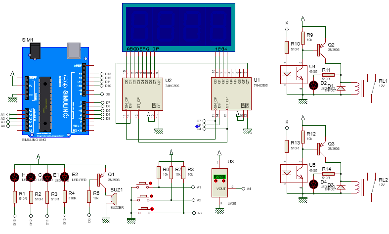 Arduino Multi Function Shield Demo Temperature Controller as well Embedded Systems together with 7 Segment Display likewise LCD12864 Shield SKU DFR0287 in addition Solar Tracking System Using 8051 Microcontroller. on digital circuit projects