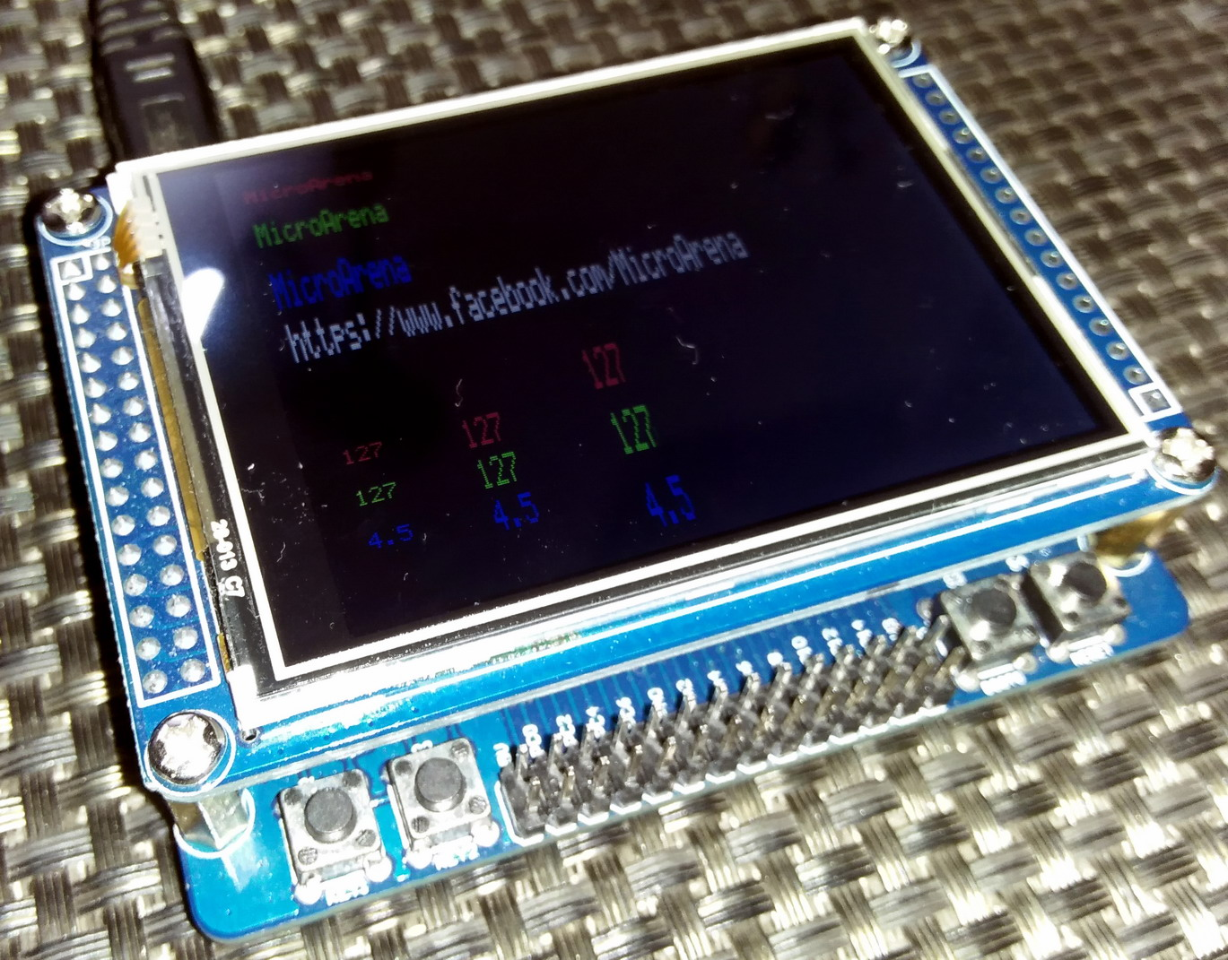 LibStock - ILI9325 TFT Touch Screen Display Demo with STM32