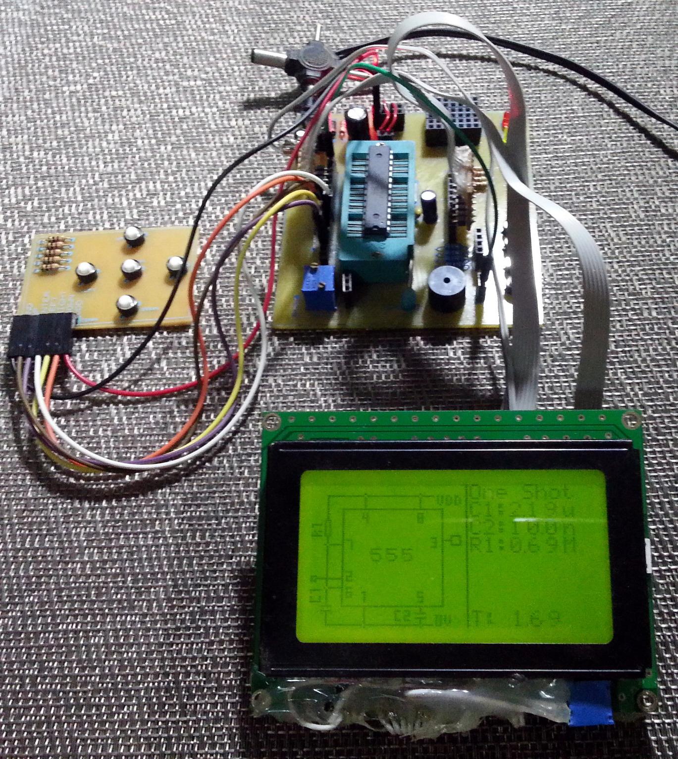 Libstock Glcd 555 Timer Simulator Calculator Astable Mode Circuit Project Setup View Full Image Display
