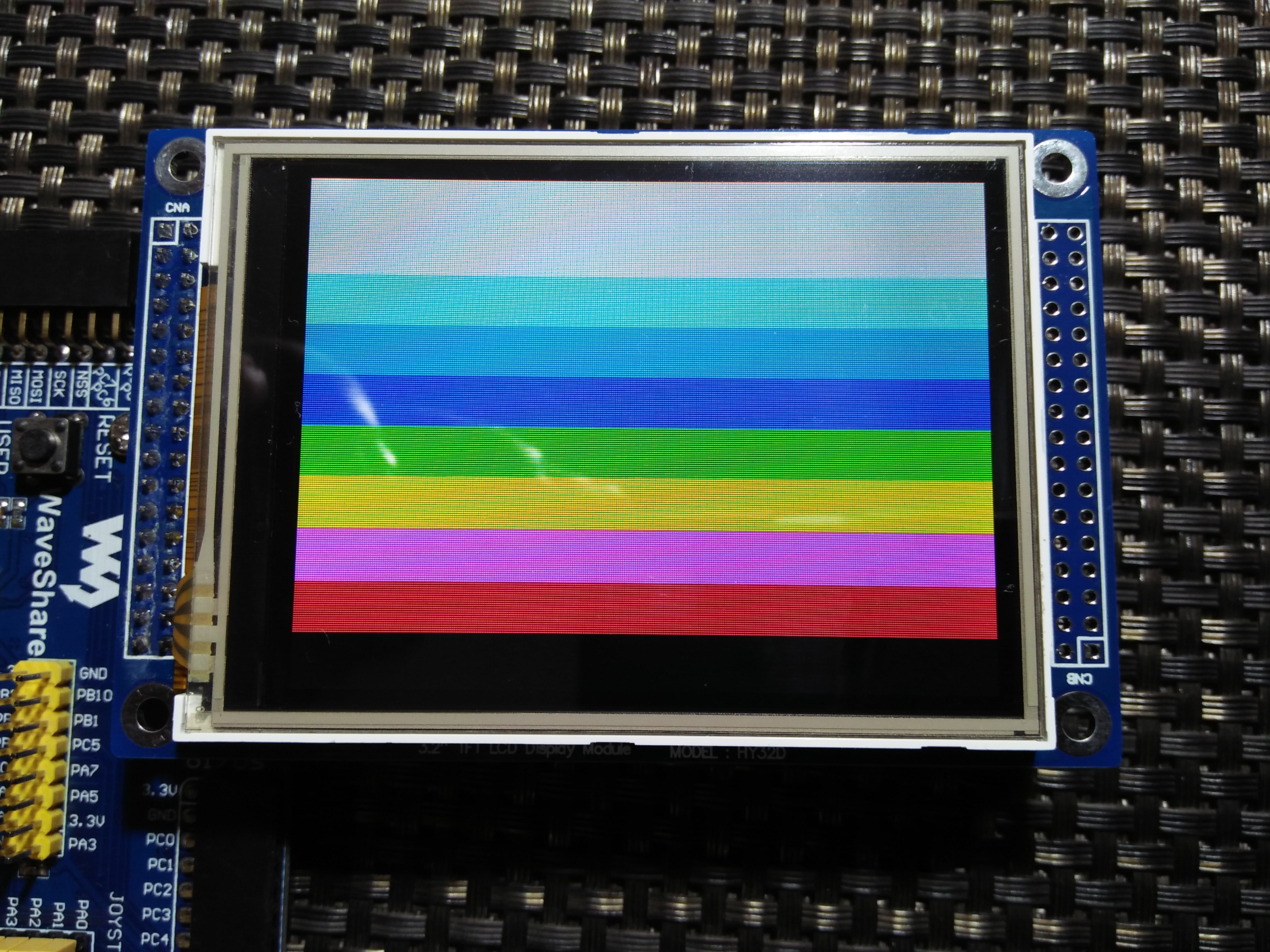 LibStock - SSD1289 TFT Touch Display Library + Demo