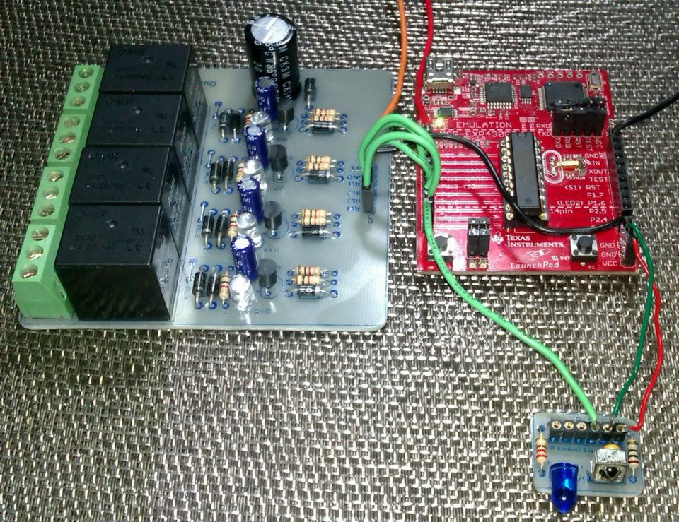 LibStock - IR-Remote Controlled Relays with MSP430