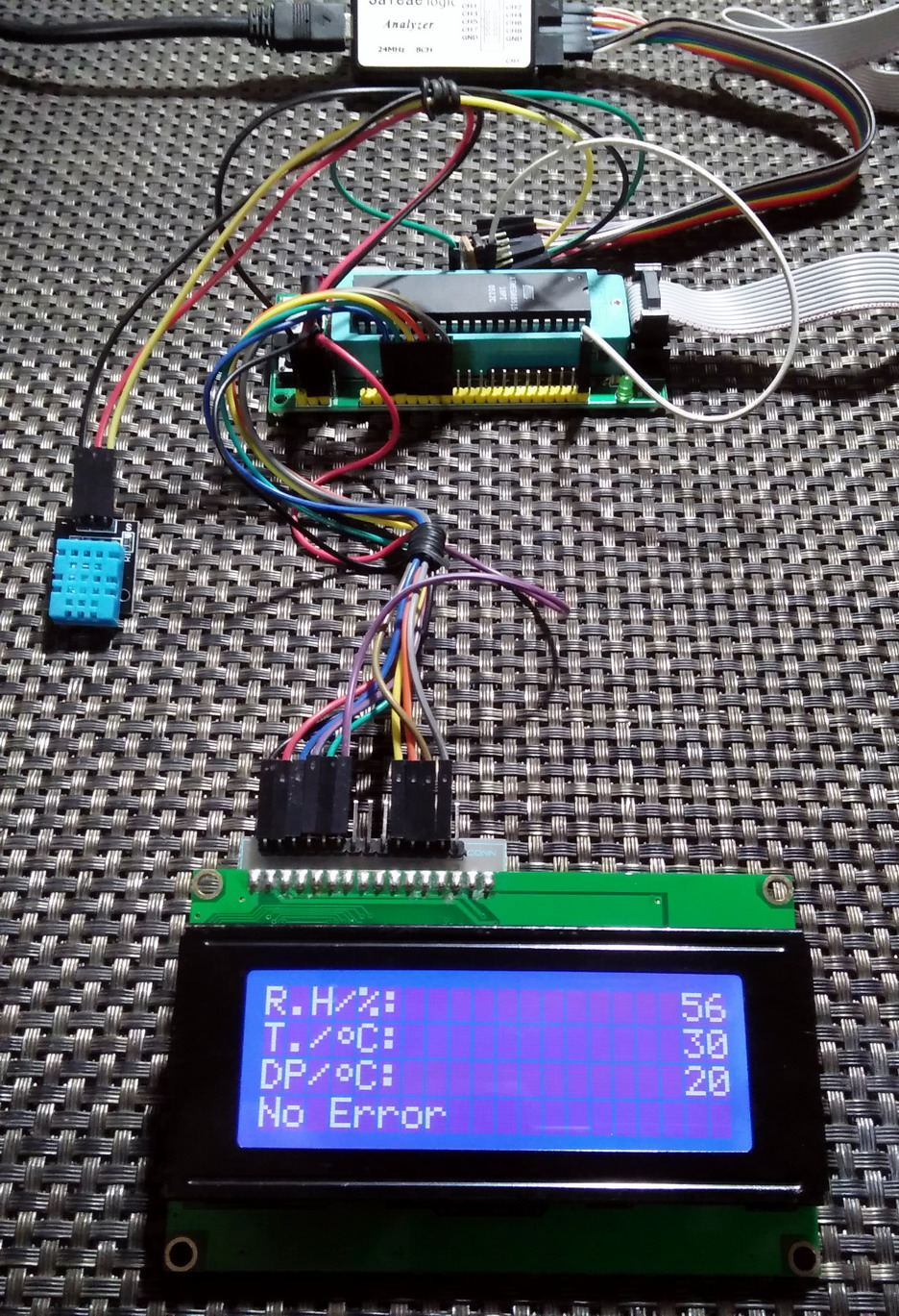 Libstock Dht11 Sensor Demo With Avrs Interrupt And Timer Based Projects Electronics Proojects Project Setup