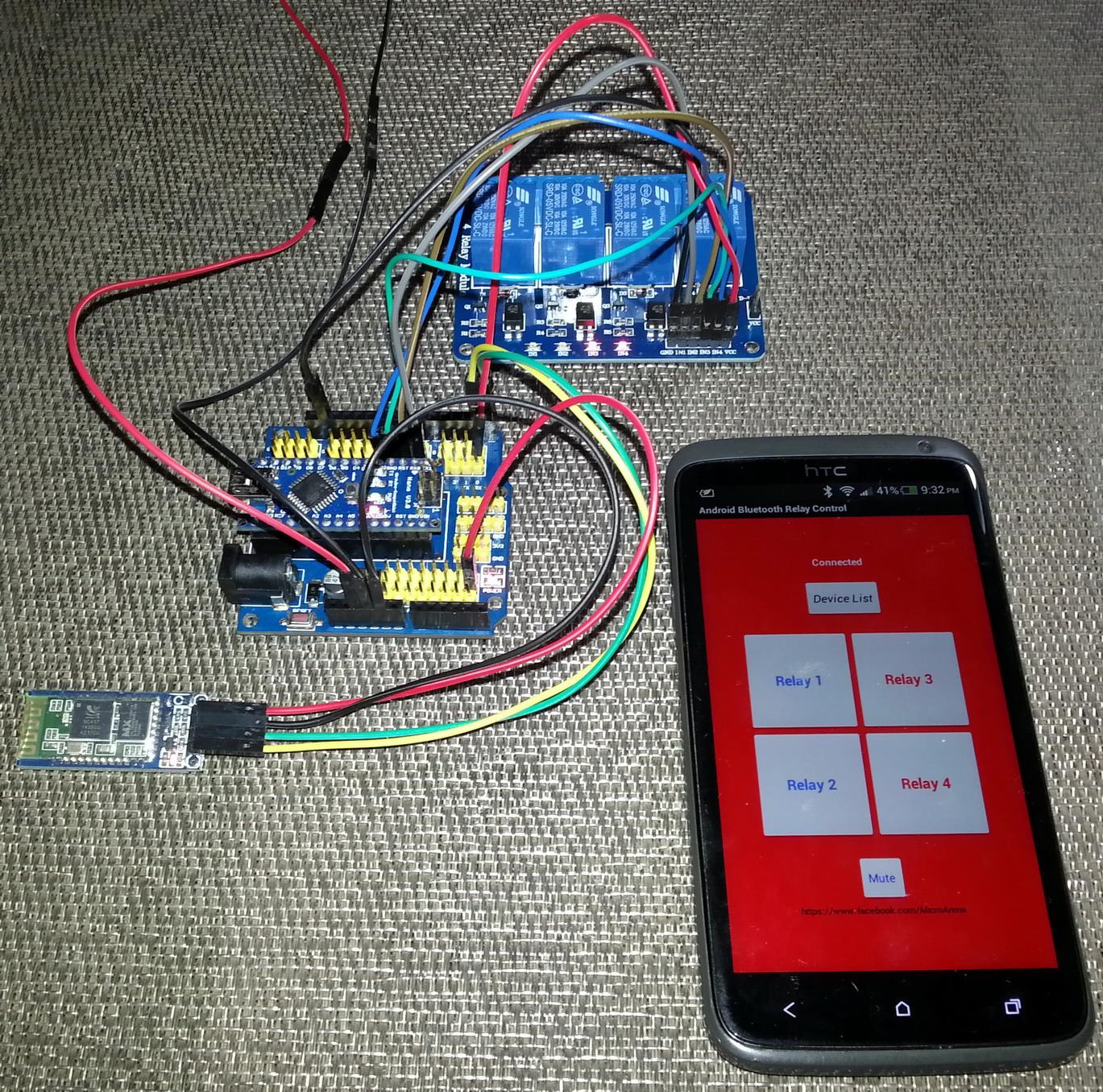 Libstock andro arduino bluetooth relay control