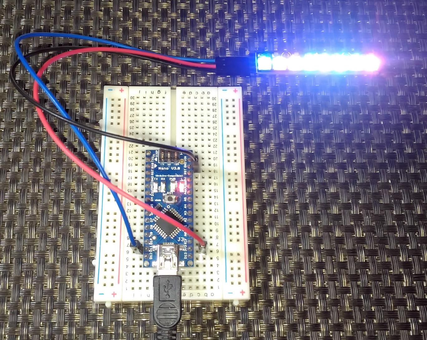 LibStock - Driving Adafruit's Neopixel (WS2812) Strip with AVR's