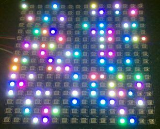 LibStock - WS2812 Flexible NeoPixel Matrix Demo
