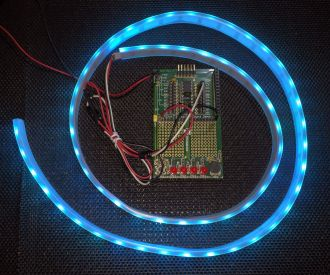 Driving Flexible Neopixel (WS2811) Strip with PICAXE08M2+ (PIC12F1840)