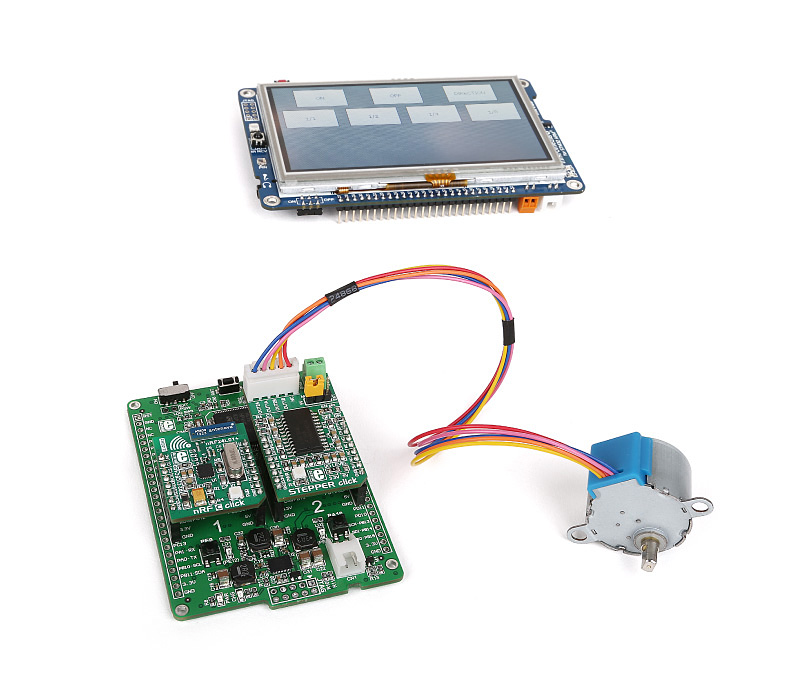 Libstock Wireless Stepper Motor Control