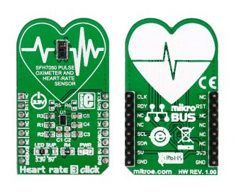 Heart rate 3 click back and front pictures.
