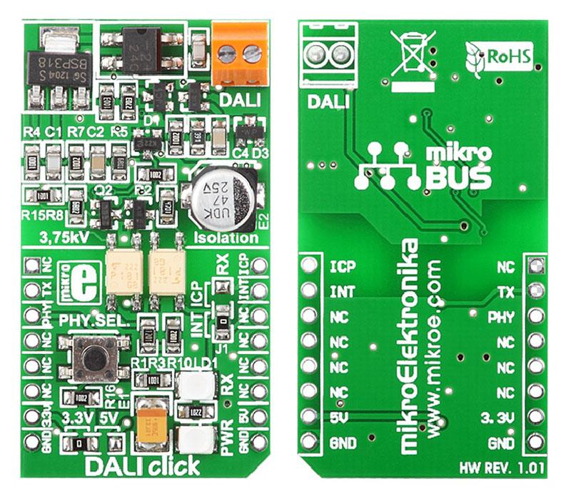 LibStock - DALI 3 3V click - Example