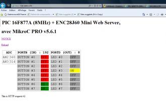 LibStock - PIC 16F877A (8MHz) + ENC28J60 Mini Web Server