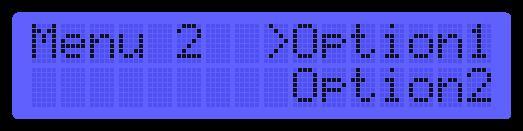 LibStock - Menus on LCD 2x16 Menus Example