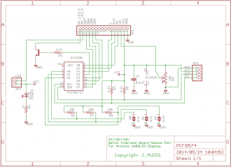Schematic diagram of the board