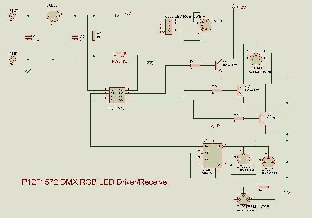 Rgb Led Driver Application Files Pic12f675rgbleddrivecircuitzip