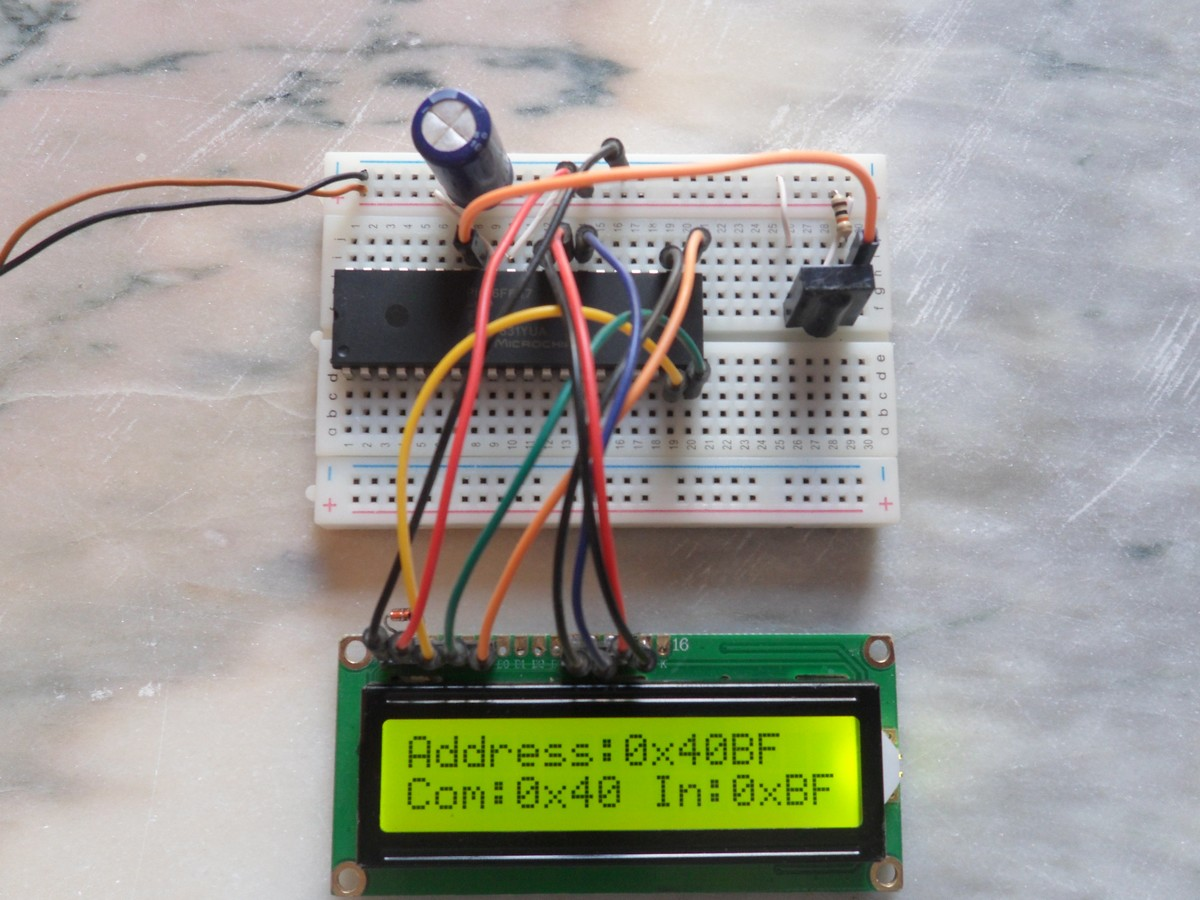 LibStock - NEC Remote control decoder with PIC microcontroller