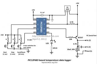 Libstock Single Chip Pic12f683 Temperature Data Logger