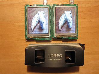 Present Stereo 3D image pairs on your Mikromedia Boards